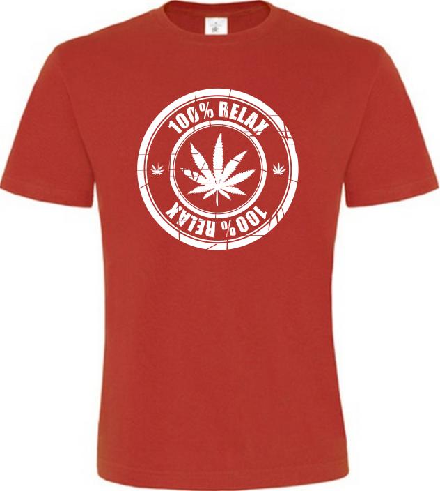100% Relax THC červené tričko