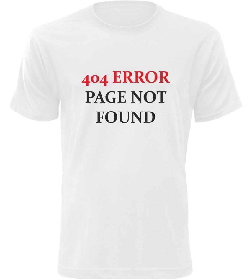 Pánské tričko 404 ERROR bílé