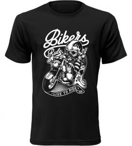 Pánské motorkářské tričko Bikers Rule černé