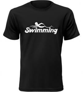 Pánské tričko Swimming černé