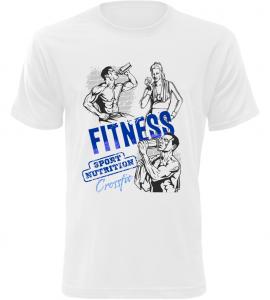 Pánské tričko Fitness bílé