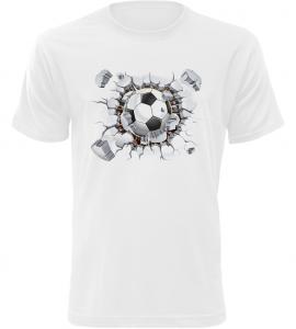 Pánské tričko s fotbalovým míčem bílé