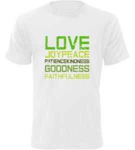 Pánské triko LOVE bílé