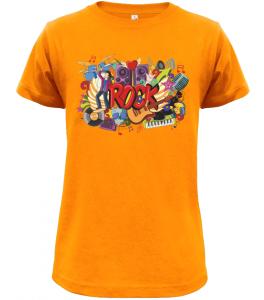 Dětské tričko Rock oranžové