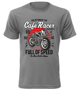 Pánské motorkářské tričko Full of Speed šedé
