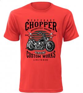 Pánské motorkářské tričko Westcoast Chopper červené