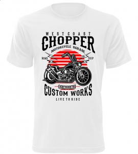 Pánské motorkářské tričko Westcoast Chopper bílé