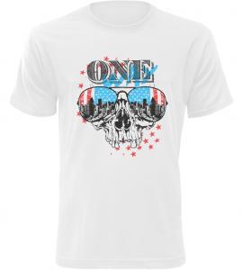 Pánské tričko ONE bílé
