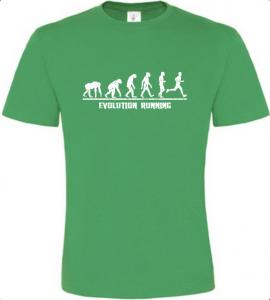 Evolution Running pánské zelené tričko