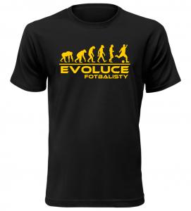 Pánské tričko evoluce fotbalisty černé