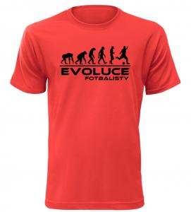 Pánské tričko evoluce fotbalisty červené
