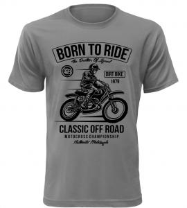 Pánské tričko Classic off Road šedé