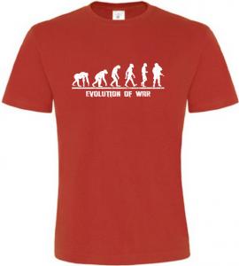 Evolution Of WAR pánské červené tričko