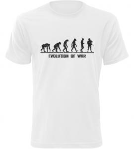 Pánské tričko Evolution Of WAR bílé
