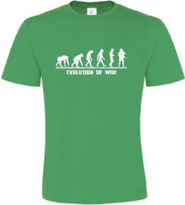 Evolution Of WAR pánské zelené tričko
