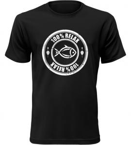 100% Relax Carp černé tričko pánské