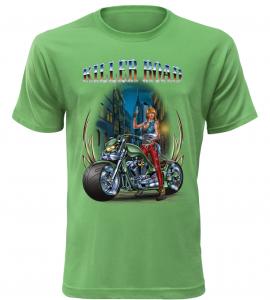 Pánské tričko Killer Road zelené