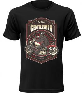 Pánské tričko Low Rider Gentlemen černé