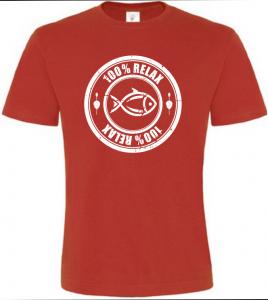 100% Relax Carp červené tričko pánské