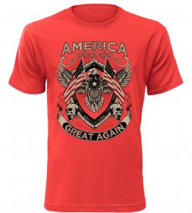 Pánské tričko America Great červené