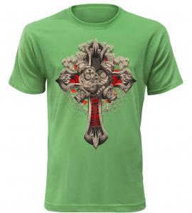 Pánské tričko Motokříž zelené