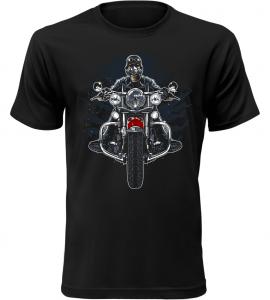 Pánské motorkářské tričko Wild Biker černé