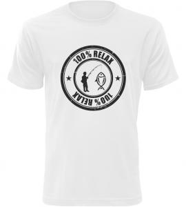 100% Relax Rybařina bílé tričko