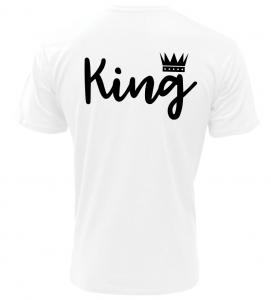 Pánské tričko King bílé