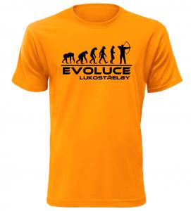 Pánské tričko evoluce lukostřelby oranžové