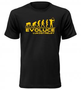 Pánské tričko evoluce lukostřelby černé