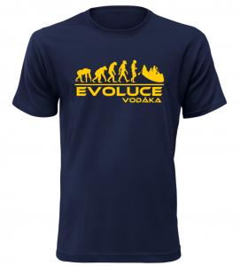 Pánské tričko evoluce vodáka navy