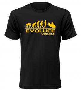 Pánské tričko evoluce vodáka černé