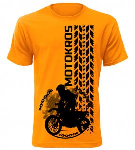 Pánské tričko Motokros oranžové