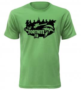 Tričko pro hráče Fortnite FR zelené