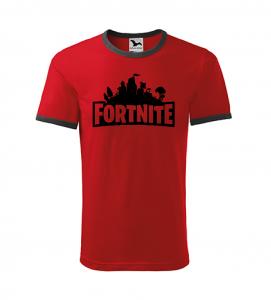 Dětské herní tričko Fortnite červené