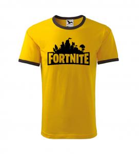 Dětské herní tričko Fortnite žluté