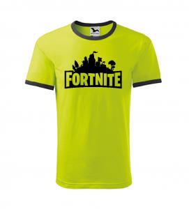 Dětské herní tričko Fortnite limetkové