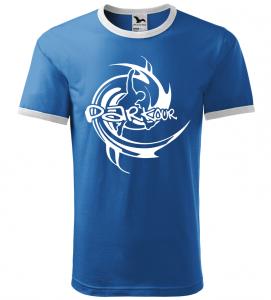 Pánské a dětské tričko Parkour azurové