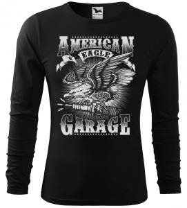 Pánské tričko pro motorkáře American Garage černé long
