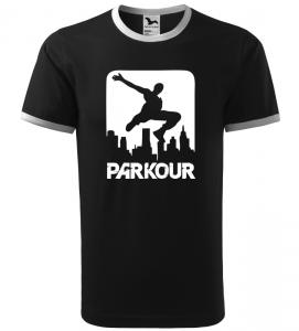 Pánské a dětské tričko Parkour city černé