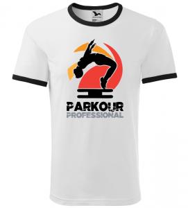 Pánské a dětské tričko Parkour professional bílé