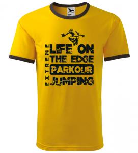 Pánské a dětské tričko Parkour extreme žluté