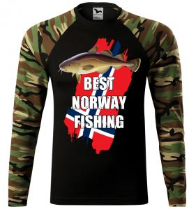 Pánské tričko pro rybáře Best Norway hnědá camouflage