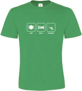 Pánské rybářské tričko Co mě baví zelené