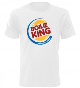 Pánské tričko pro rybáře Boilie King bílé