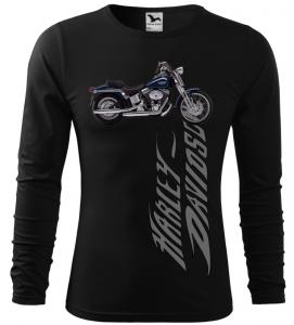Pánské tričko s dlouhým rukávem Harley Davidson černé