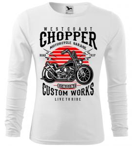 Pánské tričko Westcoast Chopper bílé long