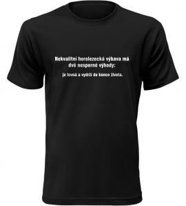 Pánské vtipné tričko Horolezecká výbava černé
