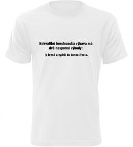 Pánské vtipné tričko Horolezecká výbava bílé