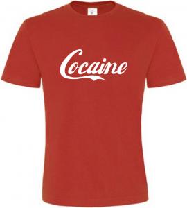 Pánské vtipné tričko Cocaine červené